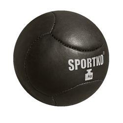 Медбол (медичний мяч) Sportko із натуральної шкіри 3кг (МДК58)